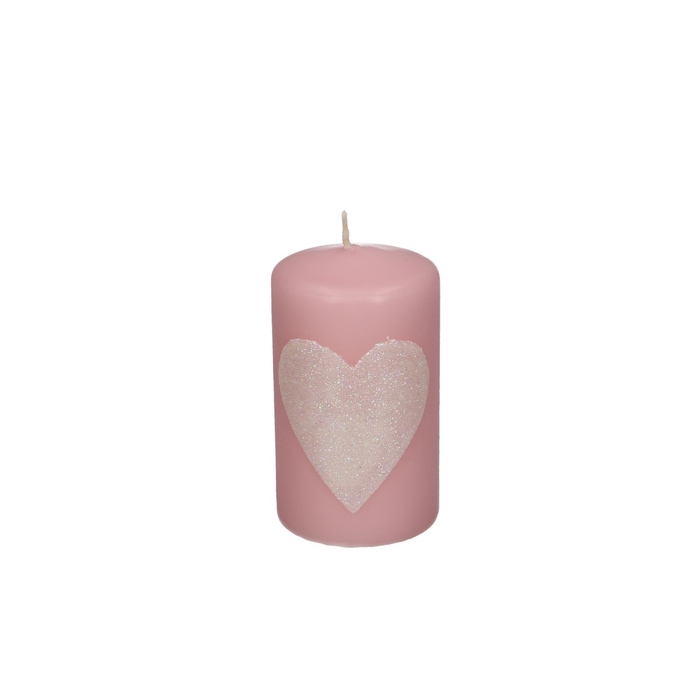 <h4>Candle Cylinder Heart d06*10cm</h4>