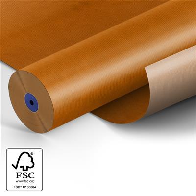 <h4>Papier 60cm kraft 50gr  marron Orange fond 400m.</h4>