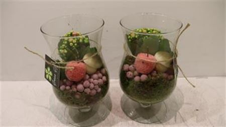 <h4>2091 Roze Glas Op Voet X6</h4>