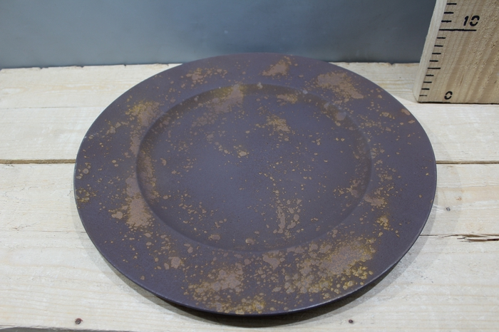 <h4>PLASTIC PLATE H2 D38 RUSTY PURPLE/BROWN DDG258</h4>