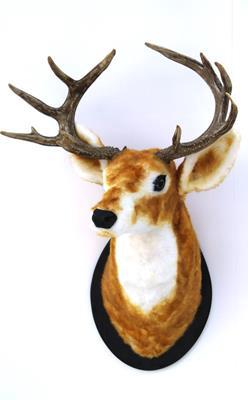 <h4>Deer Head 74cm Brown/red</h4>