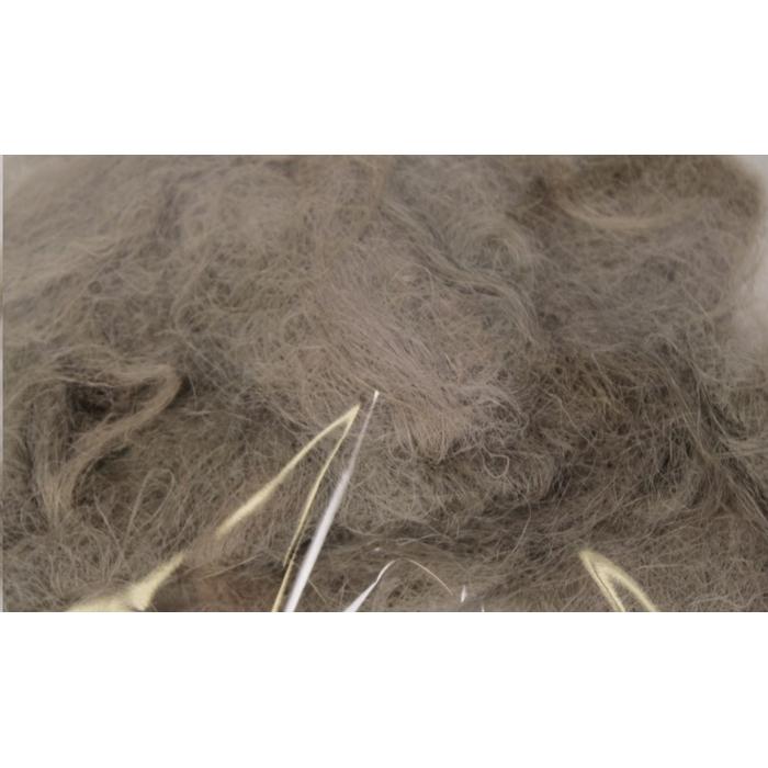 <h4>Fuzzy fibre  250 gram in poly dark grey</h4>