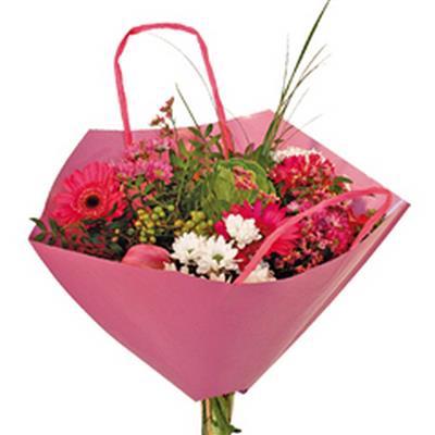 <h4>Bouquetbag Bro-lux 35x35cm paper pink</h4>