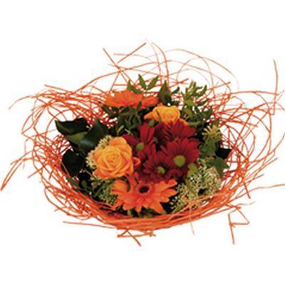 <h4>Bouquet holder woody Ø25cm orange</h4>