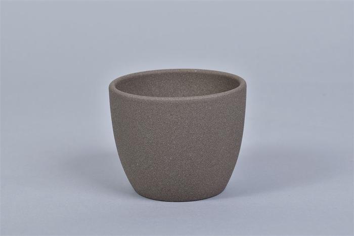 <h4>Keramiek Pot Bruin 10cm</h4>