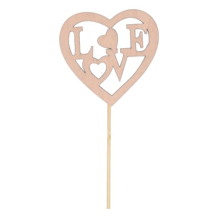 <h4>Valentijn 50cm Hart hout love 8cm</h4>