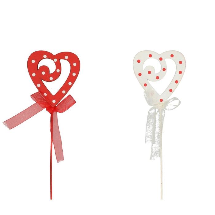 <h4>Valentijn 20cm Hart hout deco 6cm</h4>