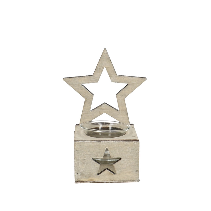 <h4>Candlelight Tray star d8*15.5cm</h4>