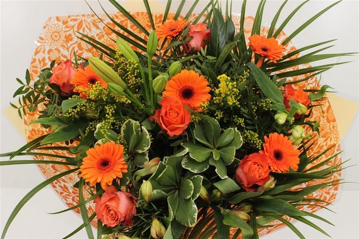 <h4>Boeket Roos Groot Oranje</h4>