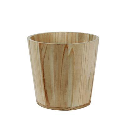 <h4>Pot basic en bois Ø10xH10cm (ES9) +plastique liner</h4>