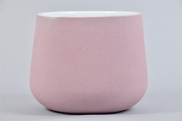 <h4>Berlijn Roze/wit Pot 19x15cm</h4>