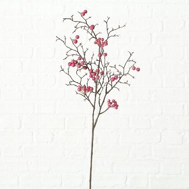 <h4>Zijde, Acerola kers, H 75 cm, 1 ass, Rose</h4>