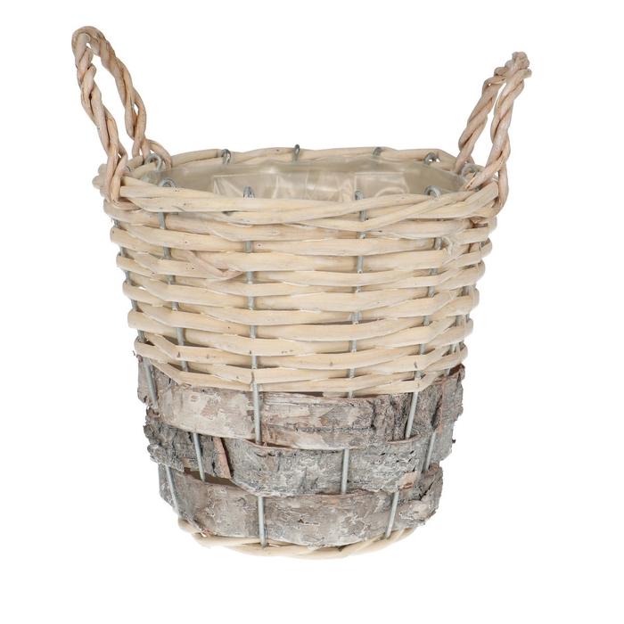 <h4>Baskets Jade pot+handle d16*14cm</h4>