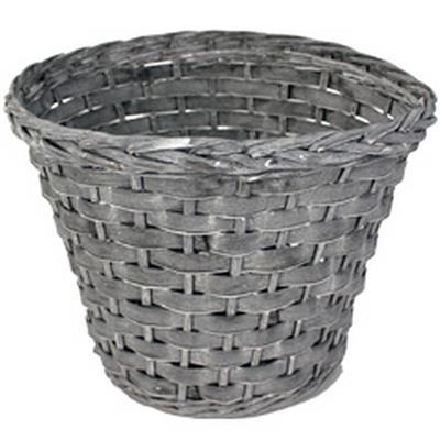 <h4>Pot Manilla wood bar/saule ø38xH29cm gris</h4>