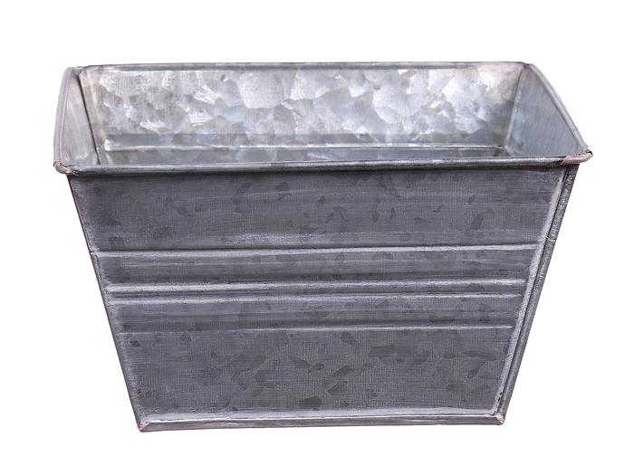 <h4>DF663170700 - Planter Yates square 15.5x15.5x9 grey</h4>