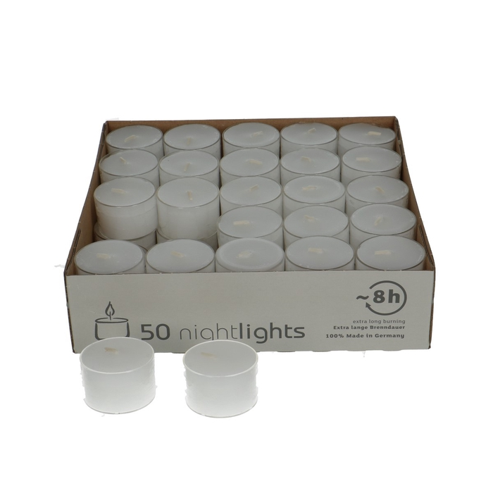 <h4>Candle Tealights in glass 8 hrs x50</h4>