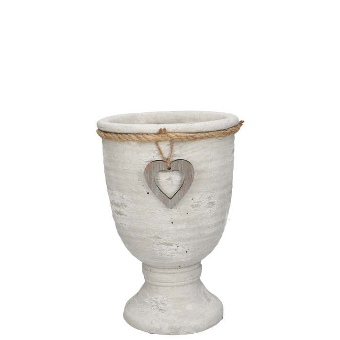 <h4>Ceramics Atzara pot heart/foot d14*20cm</h4>