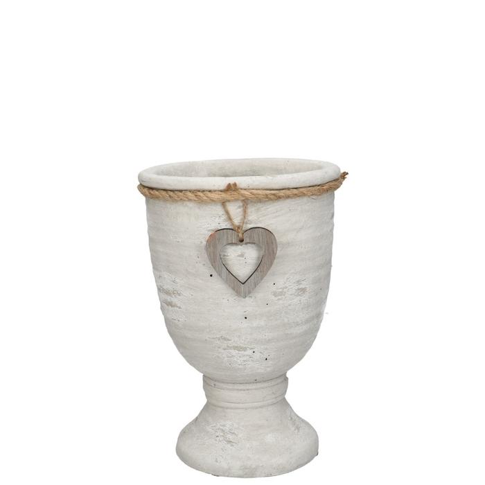 <h4>Ceramics Atzara pot heart/foot d14*20cm</h4>