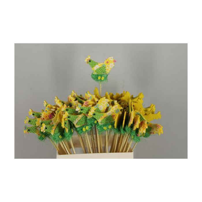 <h4>Stick Chicken Felt-nest Yellow</h4>