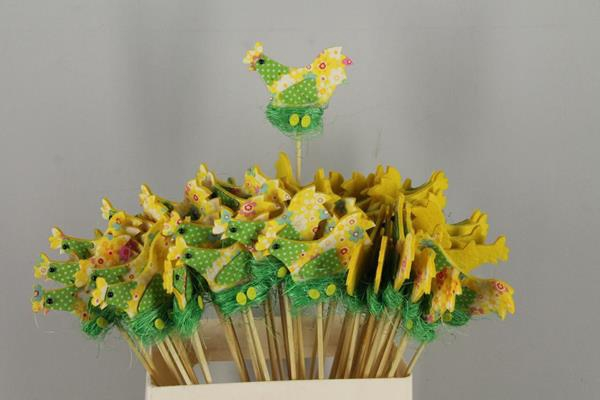 <h4>Stick Chicken Felt-nest Yellow</h4>