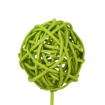 <h4>Bijsteker Bruce ball 5cm+12cm stok l.groen</h4>