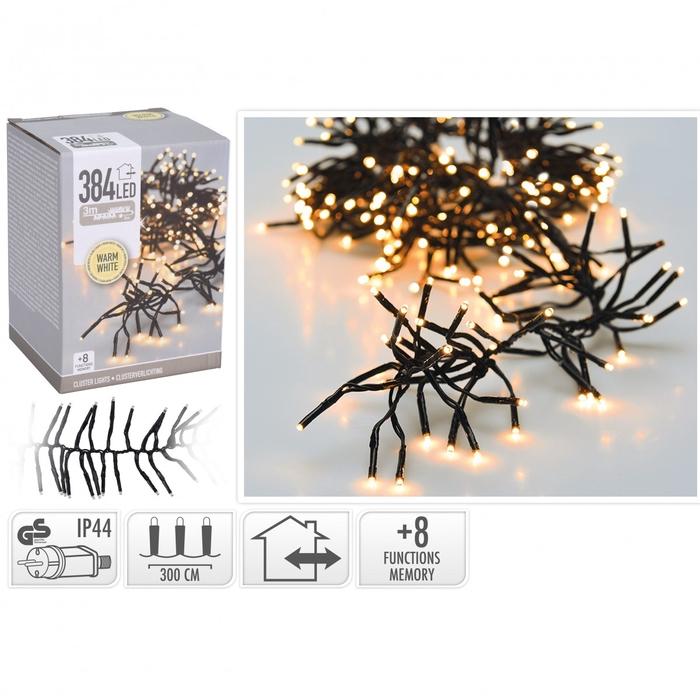 <h4>Kerst LED slinger cluster 384lmp</h4>