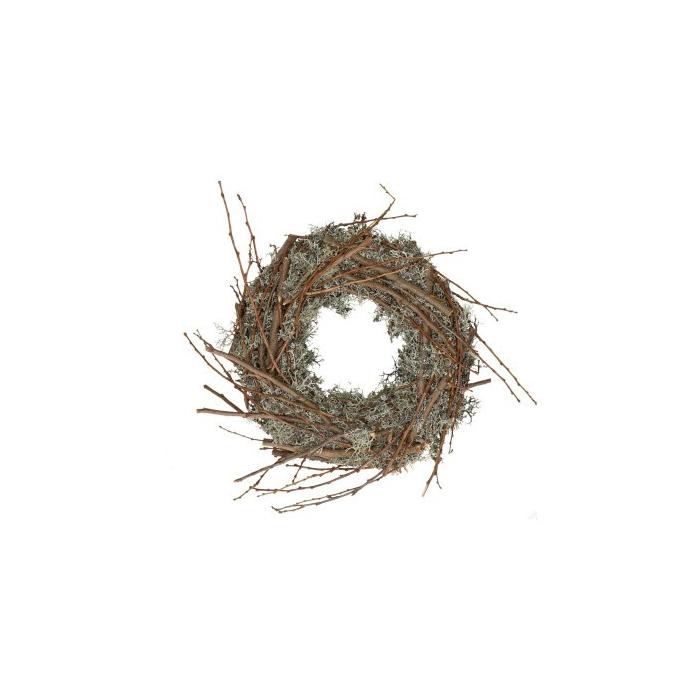 <h4>Wreath d50cm Moss+apple wood</h4>