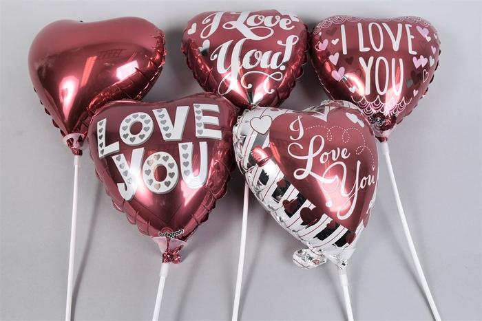 <h4>Bijsteker Ballon 18cm Love Assorti ´b´ Per 1</h4>