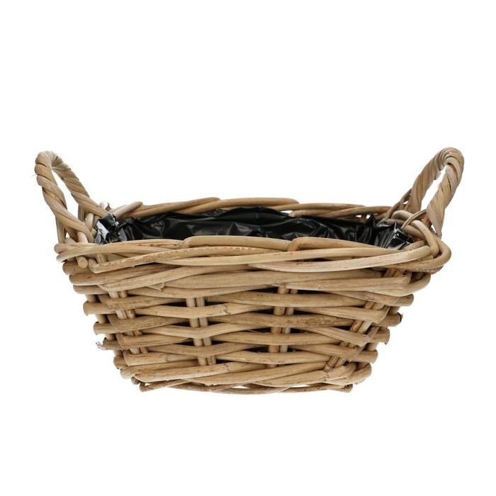 <h4>Baskets Rattan tray sq.+handle d25*11</h4>