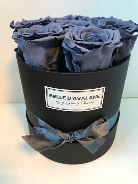 <h4>Flowerbox rd 15cm zwart/grijs</h4>