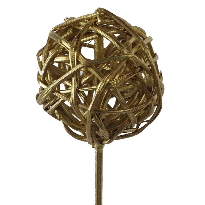 <h4>Bruce ball 5cm on stem Gold</h4>