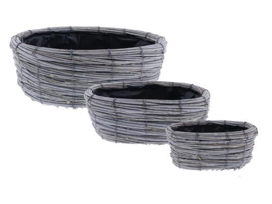 <h4>Basket Tingting S/3 Ø37x14cm</h4>