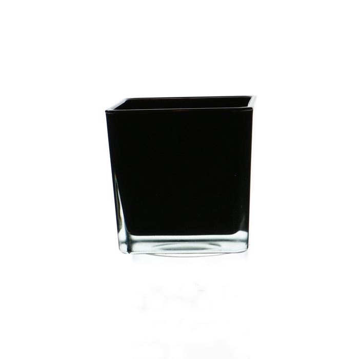 <h4>Glass colour Cube taper d10*10cm</h4>