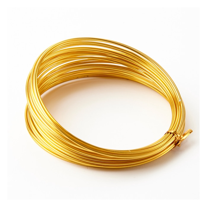 <h4>ALUMINIUM WIRE 2MM GOLD 12M 100GR</h4>