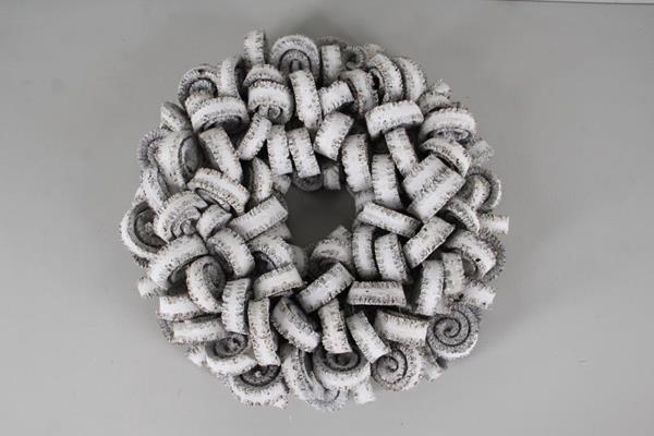 <h4>Wreath Palm Ring 38cm White</h4>