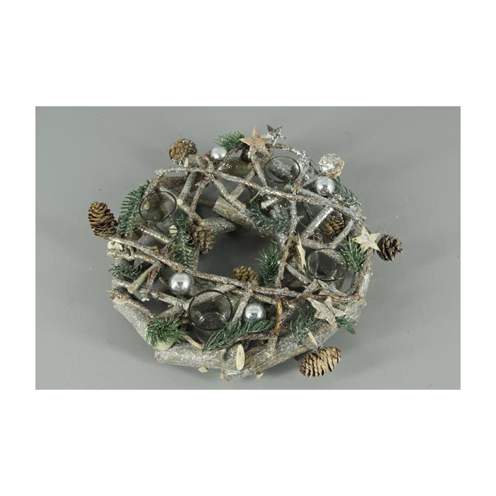 <h4>Wreath Christmas+candleholders</h4>