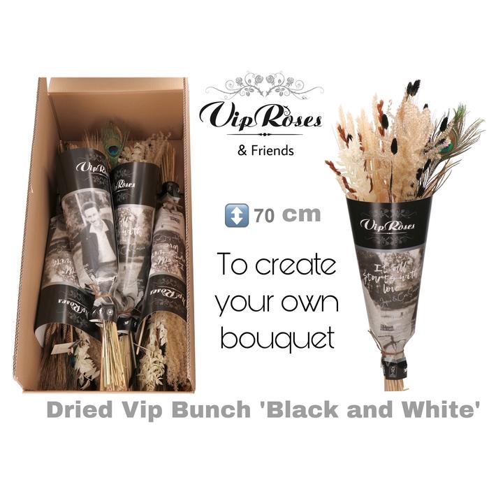 <h4>DRIED VIP BOUQUET BLACK & WHITE</h4>