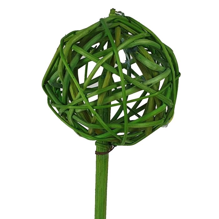 <h4>Bruce ball 5cm on stem Hot green</h4>
