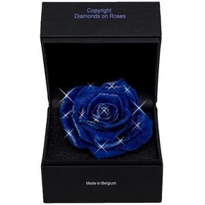 Diamantroos Blauw knop