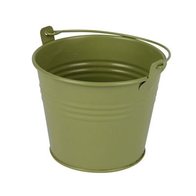 <h4>Bucket Sevilla zinc Ø10,3xH8,5cm - ES9 green matt</h4>