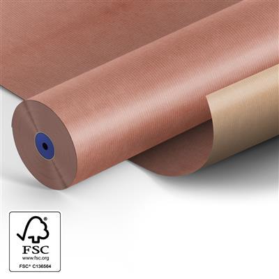 <h4>Papier 75cm br. kraft Fond Misty rose 210.</h4>