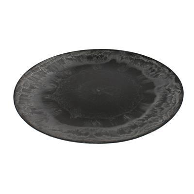<h4>Bowl plastic round Ø33xH2cm natural grey</h4>