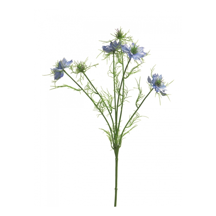 <h4>SILK FLOWERS - NIGELLA DAMASCENA BLUE 66CM</h4>