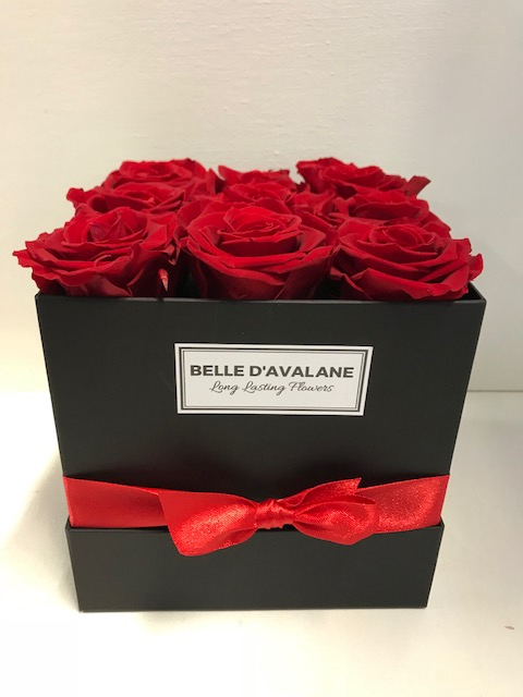 Flowerbox vk 15cm zwart/rood