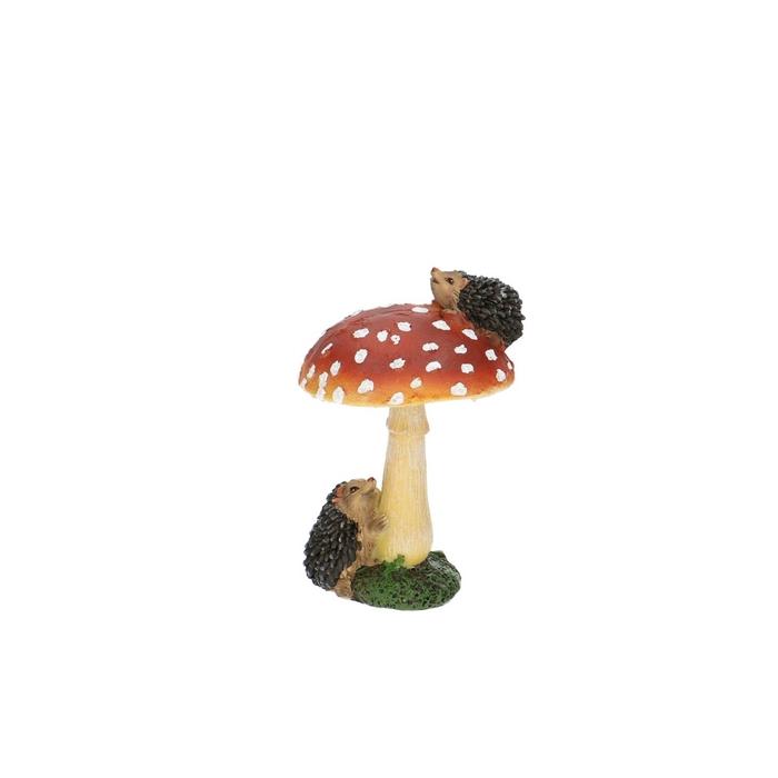 <h4>Autumn Mushroom+hedgehog 7*6.5*11cm</h4>