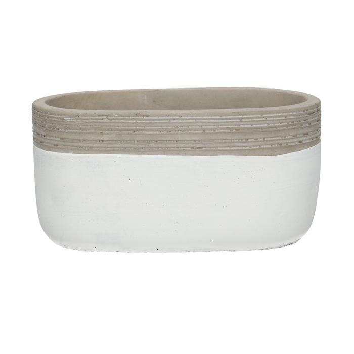 <h4>Ceramics Berlijn pot oval 18/10*9cm</h4>