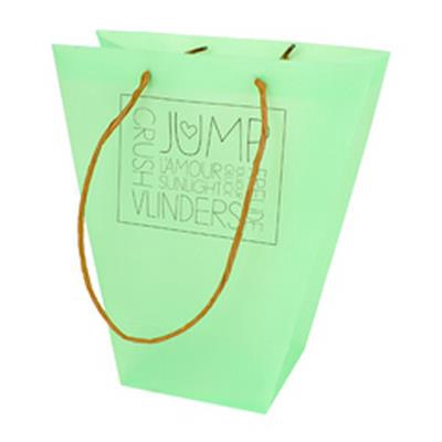 <h4>Bag Words PP 24/12x11xH26cm green</h4>
