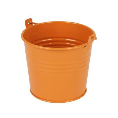 <h4>Bucket Sevilla zinc Ø10,3xH8,5cm -ES9 orange gloss</h4>
