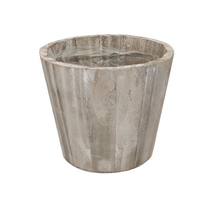 <h4>Hout Stripe pot d14.5*13cm</h4>