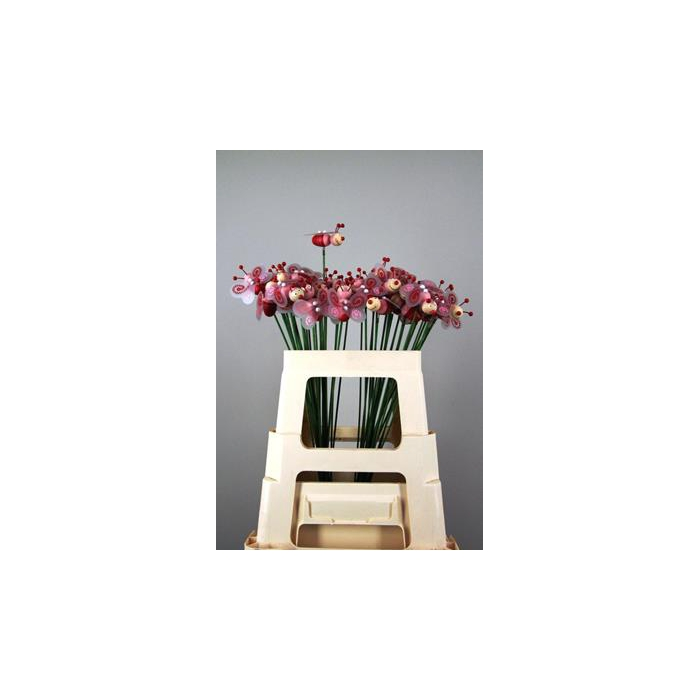 <h4>Stick Bee Wood Red 6cm</h4>